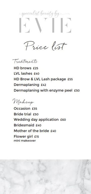 HD Brows price List